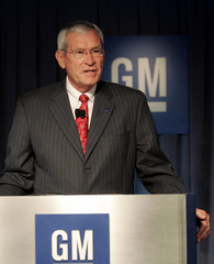 General Motors Company Chairman of the Board Edward Whitacre Jr. addresses the media at GM headquarters during a news conference to announce GM's new corporate structure in Detroit,