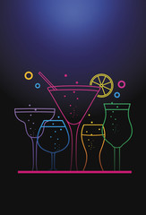 Colorful Cocktail Background