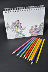 adult coloring book trend, for stress relief