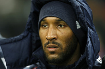 France's Anelka seen during the international friendly soccer match against Morocco at the Stade de France Stadium in Saint-Denis, near Paris