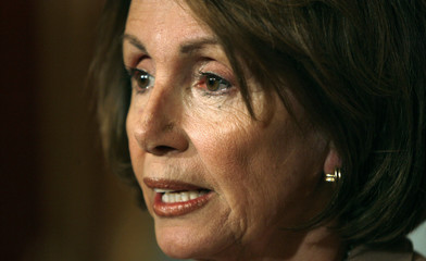 Speaker of the House Nancy Pelosi speaks to reporters in the Capitol in  Washington