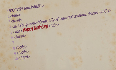 Postcard happy Birthday!