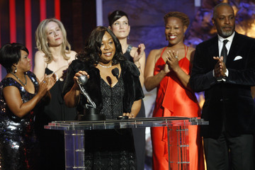 Shonda Rhimes accepts the Image Award for outstanding drama series for Grey's Anatomy at the 39th Annual NAACP Image Awards at the Shrine auditorium in Los Angeles