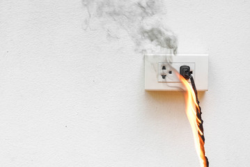Electricity short circuit / Electrical failure resulting in electricity wire burnt