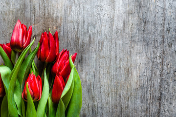 Bunch of tulips, spring flowers for mothers day, background