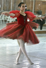 - PHOTO TAKEN 19FEB06 - An Iraqi ballerina practices at Baghdad's Music and Ballet school February 1..