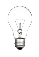 Electric lightbulb isolated on white background ,clipping path