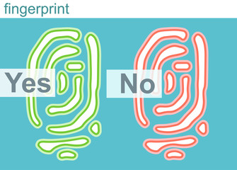 Id app icon fingerprint vector illustration sign flat human symbol