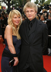 Belgian actor Jeremie Renier and guest arrive at 59th Cannes Film Festival