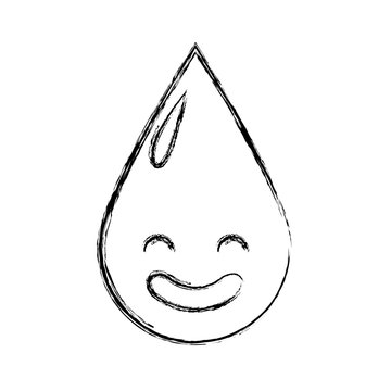 water drop kawaii character vector illustration design