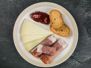 Selection of Tapas With Tomato Chutney