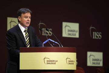 Australia's Defence Minister Fitzgibbon speaks during a plenary session at the IISS Shangri-La Dialogue in Singapore