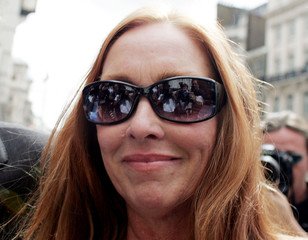 Debra Tate sister of Sharon Tate arrives at the High Court to give evidence at the Roman Polanski libel ...