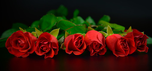 Red roses background for Mother's day.