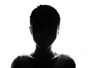 Female person silhouette