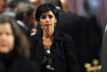 France's Justice Minister Rachida Dati arrives at the Elysee Palace in Paris