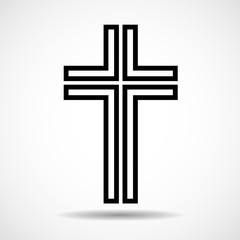 Cross. Christian Symbol. Sign of lines