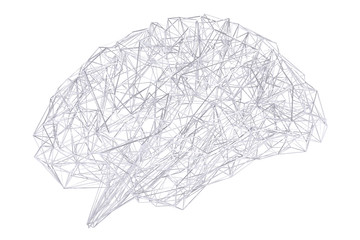 Wall Mural - Digital x-ray human brain 3D rendering