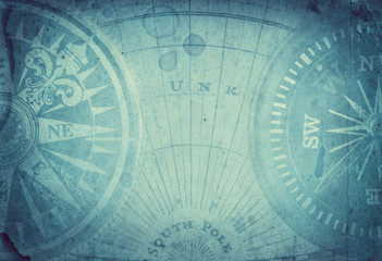 Survival, exploration and nautical theme grunge background