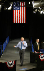 BUSH TALKS ABOUT THE ECONOMY DURING A CAMPAIGN STOP IN DAYTON.