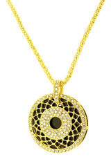 beautiful gold pendant. Jewelry necklace isolated on a white background