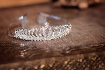 Wedding bridal luxury diadem with crystals