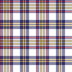 White blue pixel check seamless plaid pattern