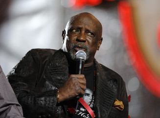 Actor Gossett Jr. talks during the Hollywood Christmas Parade in Los Angeles