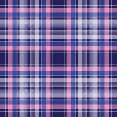 Blue pink check plaid pixel seamless pattern
