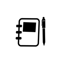 Book with pen icon vector illustration graphic design