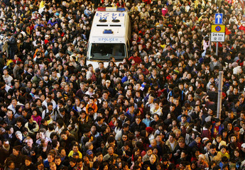 TENS OF THOUSANDS OF REVELERS WATCH CHINESE NEW YEAR PARADE IN HONG KONG.