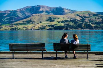 Girls on the lake