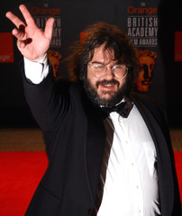 DIRECTOR PETER JACKSON OF NEW ZEALAND ARRIVES FOR BAFTA AWARDS IN LONDON.