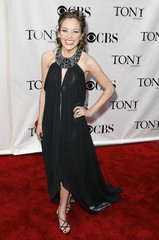 """Actress Laura Benanti from """"Gypsy"""", nominated for Best Performance by a Leading Actress in a Musical, arrives at the 62nd Annual Tony Awards in New York"""