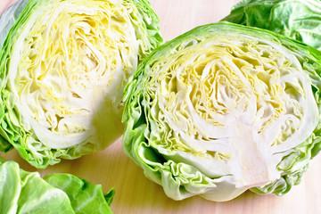 fresh head of cabbage