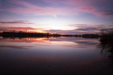 Traumhafter Sonnenuntergang in Xanten