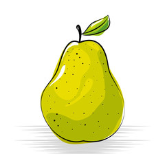 pear fresh and healthy fruit vector illustration design