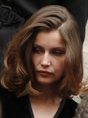 French actress Casta attends funeral of fashion designer Yves Saint Laurent in Paris