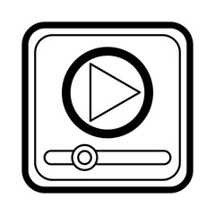 media player application icon vector illustration design