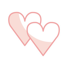heart love romantic icon vector illustration design