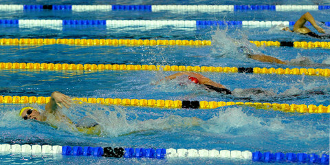 Swedish swimmer Lillhage competes in women's 200m freestyle final at European Swimming Championships Short Course in Trieste