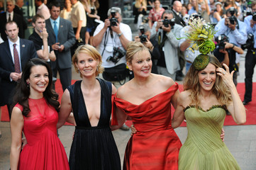 Actresses Davis, Nixon, Cattrall and Parker arrive for the world premiere of ''Sex And The City: The Movie'' at Leicester Square in London