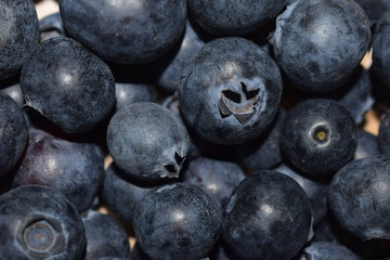 Blueberries, fried fruits