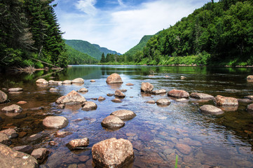 Panoramic view of Jacques Cartier River, Jacques Cartier National Park, Quebec