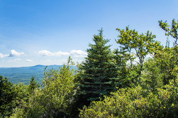 Idyllic view on top of Mount Major, Maine, USA
