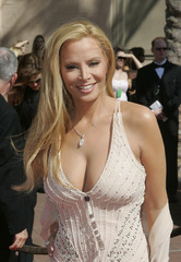 Model Cindy Margolis arrives for the 2004 Creative Emmy Awards show in Los Angeles.