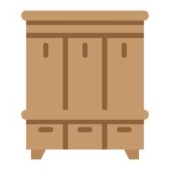 Hallway closet flat icon, Furniture and interior