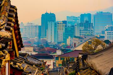 Foto auf Gartenposter Paris View of Seoul city in south korea