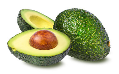 Wall Mural - avocado isolated on white