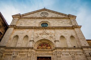 Dans les rues de Montepulciano en Toscane